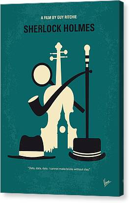 No555 My Sherlock Holmes Minimal Movie Poster Canvas Print by Chungkong Art