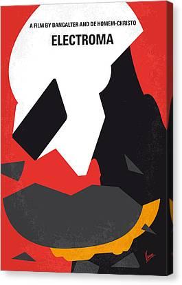 No556 My Electroma Minimal Movie Poster Canvas Print by Chungkong Art