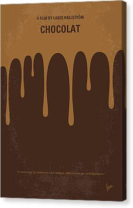 1960 Movies Canvas Print - No567 My Chocolat Minimal Movie Poster by Chungkong Art