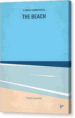 No569 My The Beach Minimal Movie Poster Canvas Print by Chungkong Art
