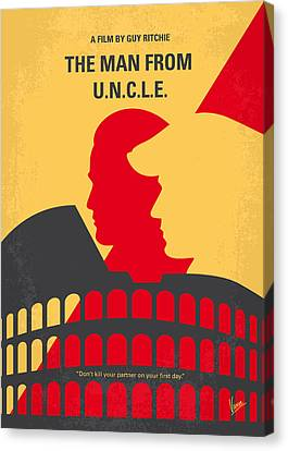 No572 My Man From Uncle Minimal Movie Poster Canvas Print