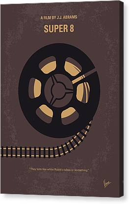 Crashing Canvas Print - No578 My Super 8 Minimal Movie Poster by Chungkong Art