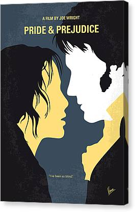 No584 My Pride And Prejudice Minimal Movie Poster Canvas Print by Chungkong Art