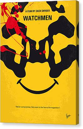 No599 My Watchmen Minimal Movie Poster Canvas Print