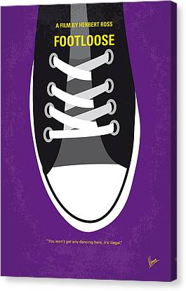 Kevin Canvas Print - No610 My Footloose Minimal Movie Poster by Chungkong Art