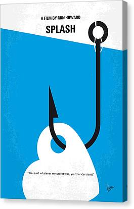 No625 My Splash Minimal Movie Poster Canvas Print by Chungkong Art