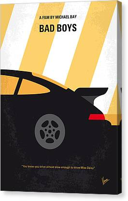 No627 My Bad Boys Minimal Movie Poster Canvas Print