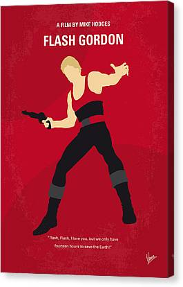 Gordon Canvas Print - No632 My Flash Gordon Minimal Movie Poster by Chungkong Art