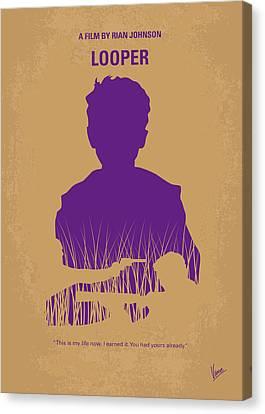 No636 My Looper Minimal Movie Poster Canvas Print by Chungkong Art