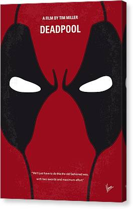 No639 My Deadpool Minimal Movie Poster Canvas Print by Chungkong Art