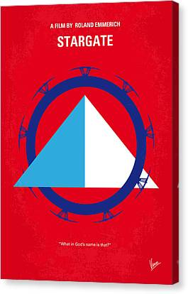No644 My Stargate Minimal Movie Poster Canvas Print