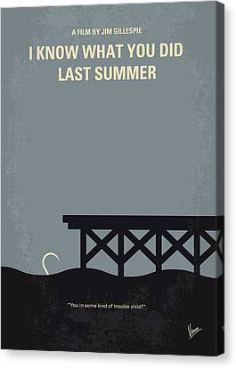 No650 My I Know What You Did Last Summer Minimal Movie Poster Canvas Print by Chungkong Art