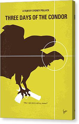 No659 My Three Days Of The Condor Minimal Movie Poster Canvas Print by Chungkong Art