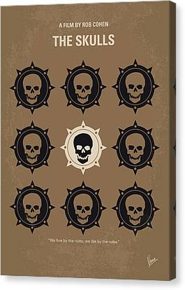 No662 My The Skulls Minimal Movie Poster Canvas Print by Chungkong Art