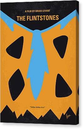 No669 My The Flintstones Minimal Movie Poster Canvas Print by Chungkong Art