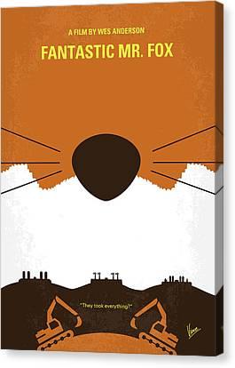 Clooney Canvas Print - No673 My Fantastic Mr Fox Minimal Movie Poster by Chungkong Art