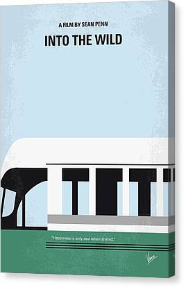 No677 My Into The Wild Minimal Movie Poster Canvas Print by Chungkong Art