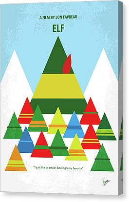 No699 My Elf Minimal Movie Poster Canvas Print by Chungkong Art