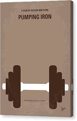 No707 My Pumping Iron Minimal Movie Poster Canvas Print by Chungkong Art