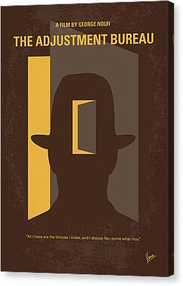 Toilet Canvas Print - No710 My The Adjustment Bureau Minimal Movie Poster by Chungkong Art