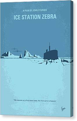 No711 My Ice Station Zebra Minimal Movie Poster Canvas Print by Chungkong Art