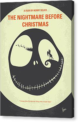 No712 My The Nightmare Before Christmas Minimal Movie Poster Canvas Print by Chungkong Art