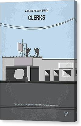 Kevin Canvas Print - No715 My Clerks Minimal Movie Poster by Chungkong Art