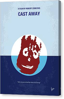 No718 My Cast Away Minimal Movie Poster Canvas Print