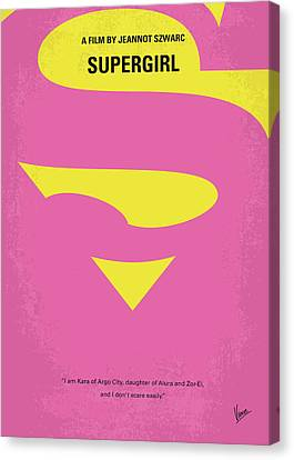 No720 My Supergirl Minimal Movie Poster Canvas Print