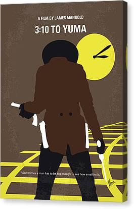 Bales Canvas Print - No726 My 310 To Yuma Minimal Movie Poster by Chungkong Art