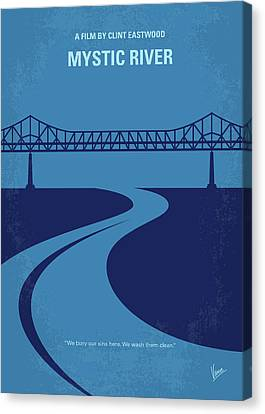 Kevin Canvas Print - No729 My Mystic River Minimal Movie Poster by Chungkong Art