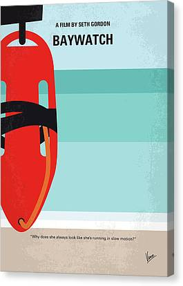 No730 My Baywatch Minimal Movie Poster Canvas Print by Chungkong Art