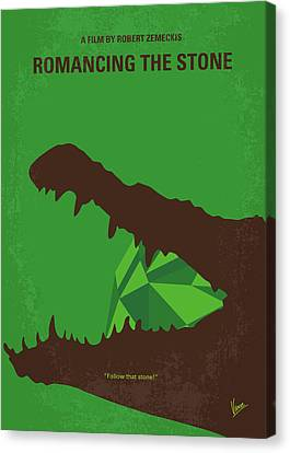 No732 My Romancing The Stone Minimal Movie Poster Canvas Print