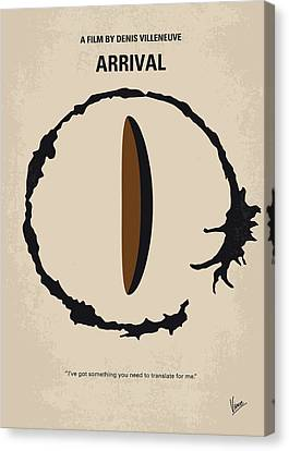 No735 My Arrival Minimal Movie Poster Canvas Print