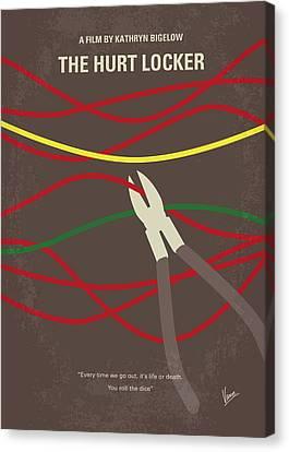 Iraq Canvas Print - No746 My The Hurt Locker Minimal Movie Poster by Chungkong Art