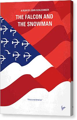 Canvas Print featuring the digital art No749 My The Falcon And The Snowman Minimal Movie Poster by Chungkong Art