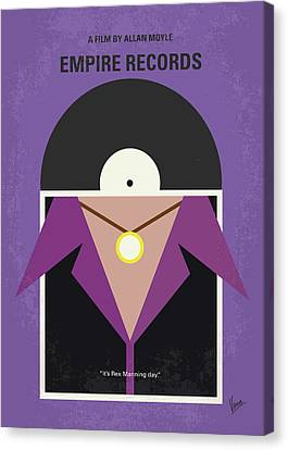 Canvas Print featuring the digital art No750 My Empire Records Minimal Movie Poster by Chungkong Art