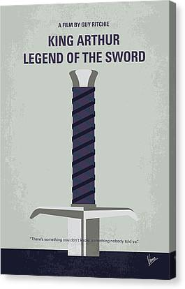 No751 My King Arthur Legend Of The Sword Minimal Movie Poster Canvas Print