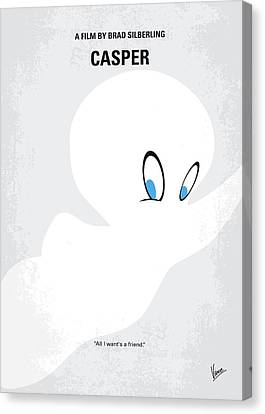 No752 My Casper Minimal Movie Poster Canvas Print by Chungkong Art