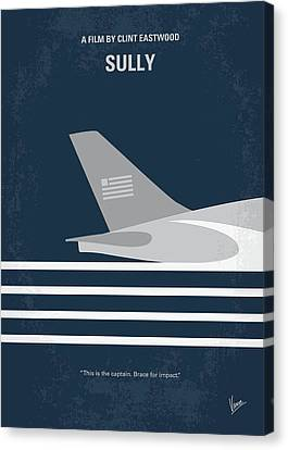 No754 My Sully Minimal Movie Poster Canvas Print