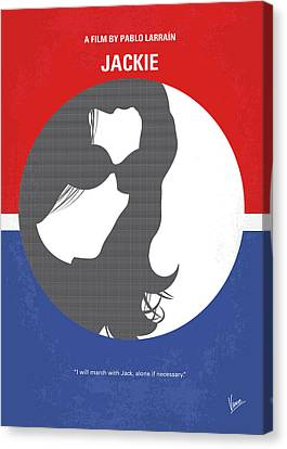 American First Lady Canvas Print - No755 My Jackie Minimal Movie Poster by Chungkong Art