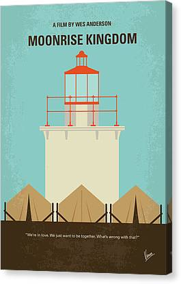 No760 My Moonrise Kingdom Minimal Movie Poster Canvas Print by Chungkong Art