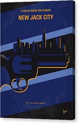 Police Canvas Print - No762 My New Jack City Minimal Movie Poster by Chungkong Art