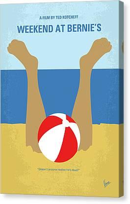 No765 My Weekend At Bernies Minimal Movie Poster Canvas Print by Chungkong Art