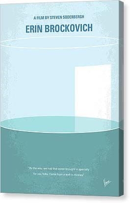 No769 My Erin Brockovich Minimal Movie Poster Canvas Print by Chungkong Art