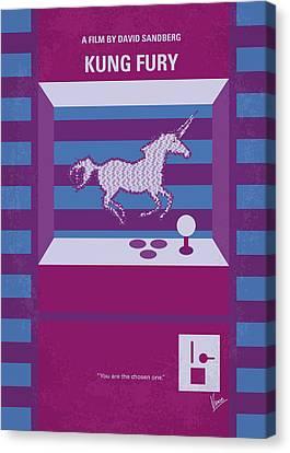 Extinct And Mythical Canvas Print - No770 My Kung Fury Minimal Movie Poster by Chungkong Art