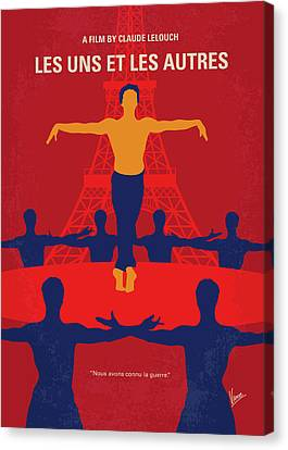 Canvas Print featuring the digital art No771 My Les Uns Et Les Autres Minimal Movie Poster by Chungkong Art