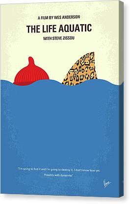 Wilson Canvas Print - No774 My The Life Aquatic With Steve Zissou Minimal Movie Poster by Chungkong Art