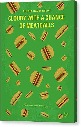 No778 My Cloudy With A Chance Of Meatballs Minimal Movie Poster Canvas Print by Chungkong Art