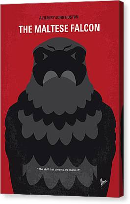 Maltese Canvas Print - No780 My The Maltese Falcon Minimal Movie Poster by Chungkong Art